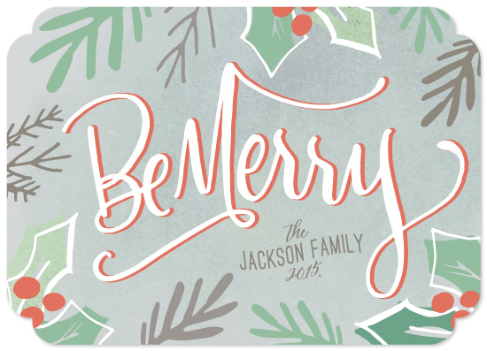 non-photo holiday cards - Berry Be Merry by Makewells