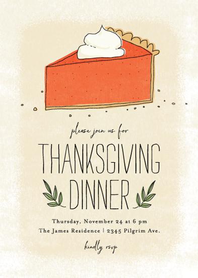 digital invitations - pumpkin pie by Guess What Design Studio
