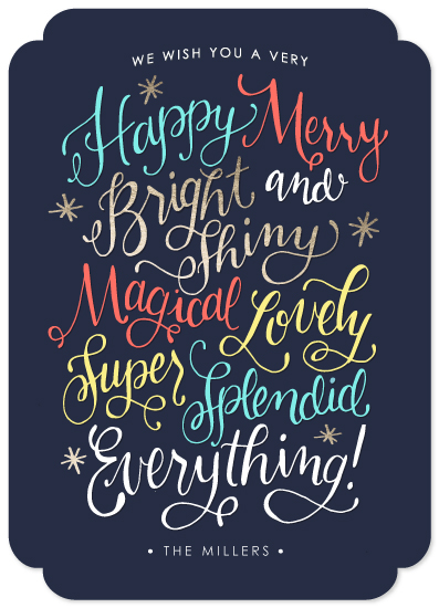 non-photo holiday cards - Bright and Shiny Everything by Makewells