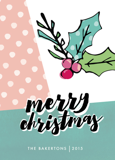 non-photo holiday cards - Mod Holly by Makewells