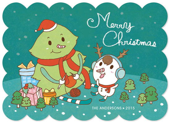 non-photo holiday cards - Happy Christmas Time by Su Yu Liao