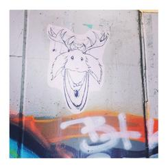 Jackelope Graffiti