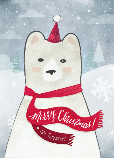non-photo holiday cards - Merry Bear by Susie Allen