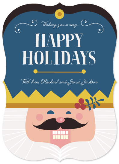 non-photo holiday cards - Nutcracker Face by Katie Zimpel