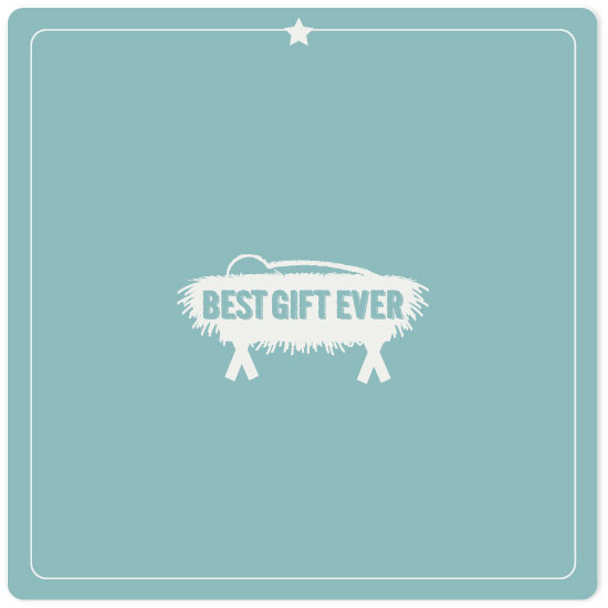 non-photo holiday cards - Jesus Best Gift Ever by frances barra