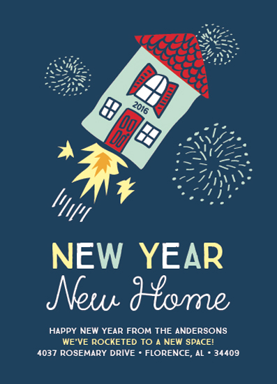 non-photo holiday cards - New Year New Home by Juliet Meeks