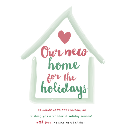 non-photo holiday cards - Home for the Hoildays by Amanda Majorsky
