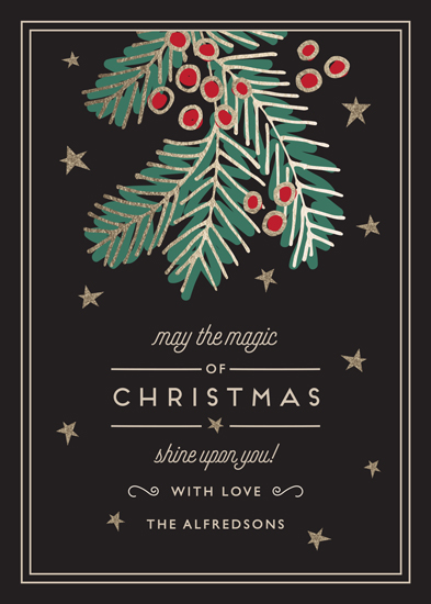 non-photo holiday cards - The Magic of Holiday by Chris Griffith