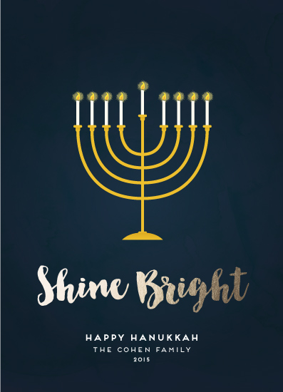 non-photo holiday cards - Shine Bright Menorah by Sara Showalter