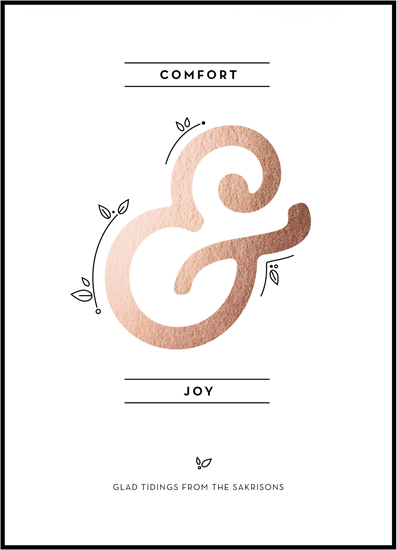 non-photo holiday cards - Comfort -&- Joy by Peridot Design