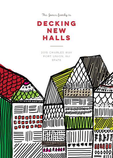 non-photo holiday cards - Decking New Halls by Peridot Design