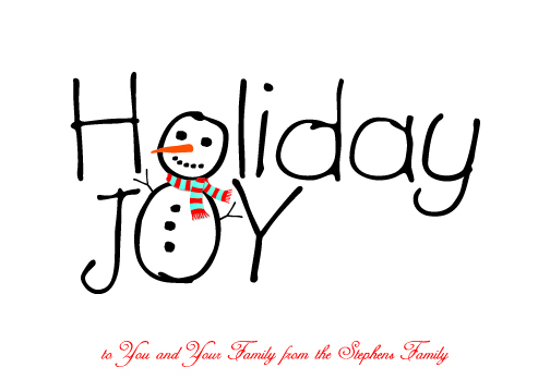 non-photo holiday cards - Holiday Joy by Wendy Vandenbrock