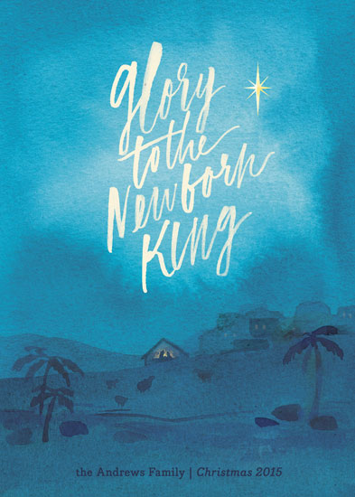 non-photo holiday cards - Newborn King by Rebecca Daublin