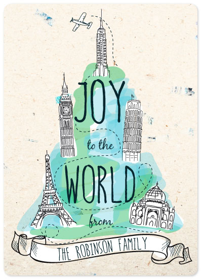 non-photo holiday cards - International Joy by Betsy Berry