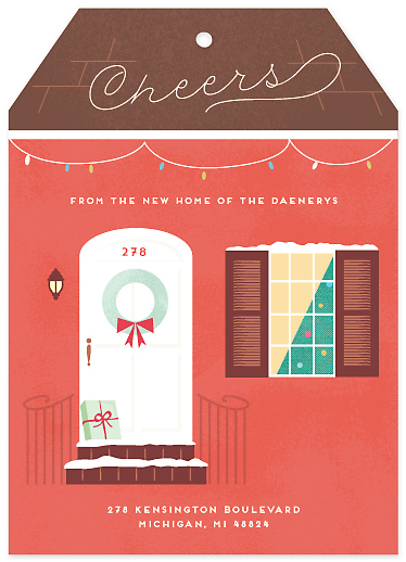 non-photo holiday cards - zola by chocomocacino