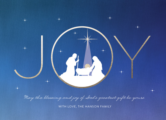 non-photo holiday cards - Joy Blessings by Coco and Ellie Design