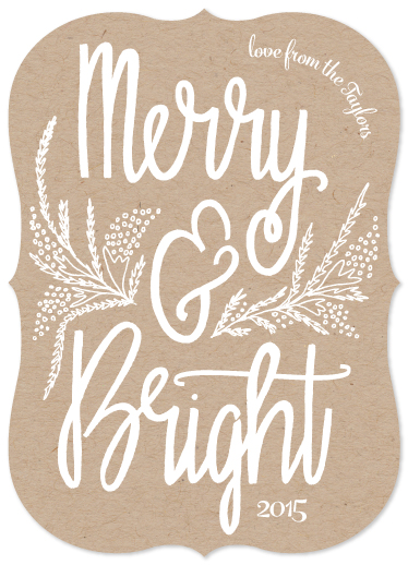 non-photo holiday cards - Floral Merry & Bright by Whitney Todd
