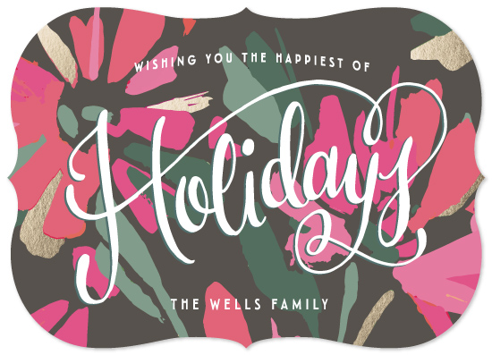 non-photo holiday cards - Roaring Good Holiday by Makewells