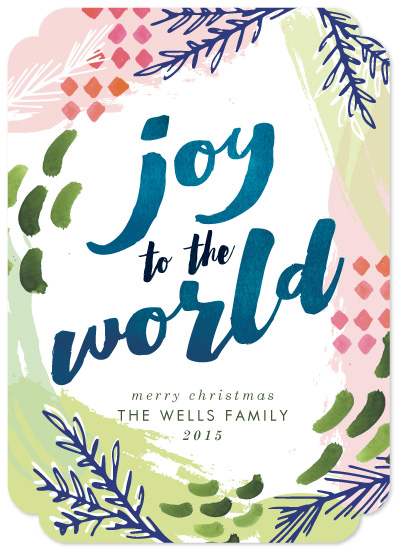 non-photo holiday cards - Joy Fest by Makewells