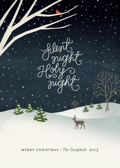 non-photo holiday cards - Wintry night by Jennifer Wick