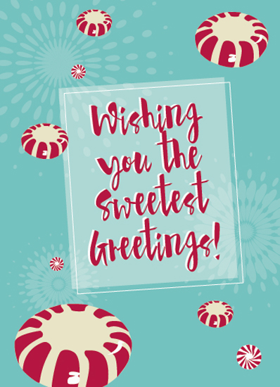 non-photo holiday cards - Sweetest Greeting by Ellen Petty