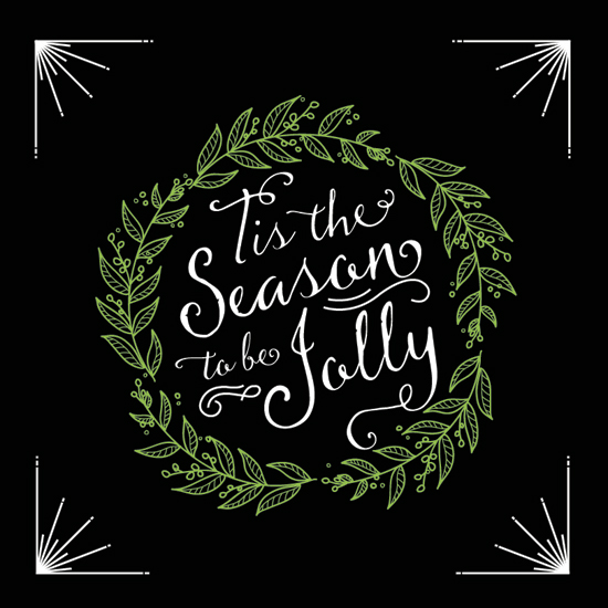non-photo holiday cards - Season To Be Jolly by Ellen Petty