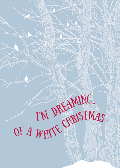 non-photo holiday cards - Dreaming... by Ellen Petty