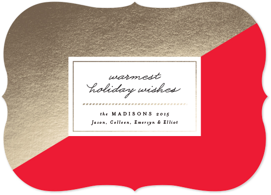 non-photo holiday cards - Modern Slant by Kristie Kern