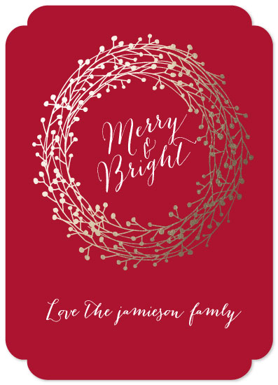 non-photo holiday cards - may your days by Neeta Sawhney