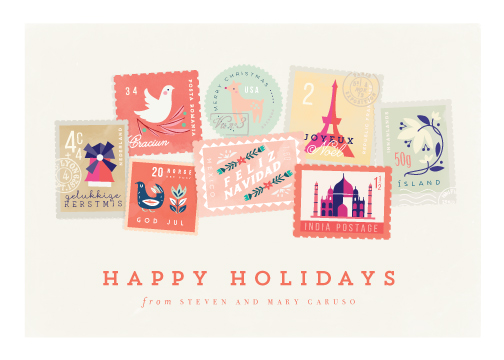 non-photo holiday cards - Holiday Stamps by Lori Wemple