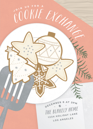 digital invitations - Cookie Exchange by Leah Bisch