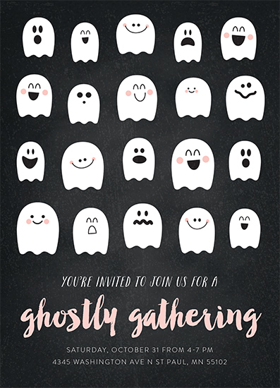digital invitations - Ghostly Gathering by Chelsey Scott