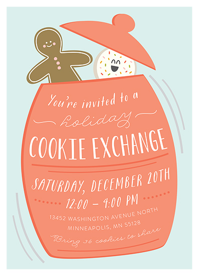 digital invitations - Holiday Cookie Jar by Chelsey Scott