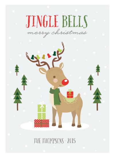non-photo holiday cards - Jingle Bells by Ana Sharpe