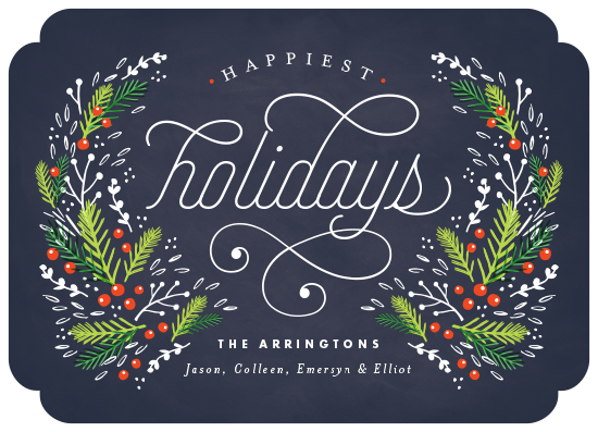 non-photo holiday cards - Festive Foliage by Kristie Kern