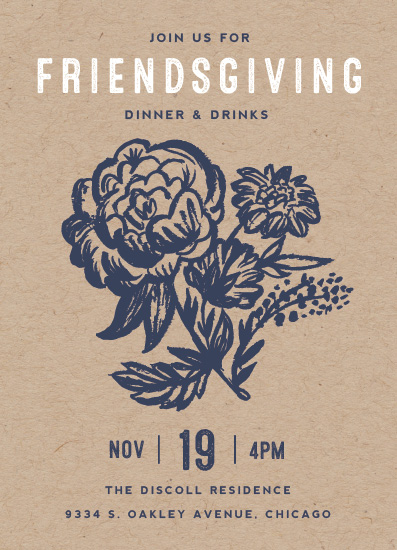 digital invitations - Floral Friendsgiving by Morgan Ramberg