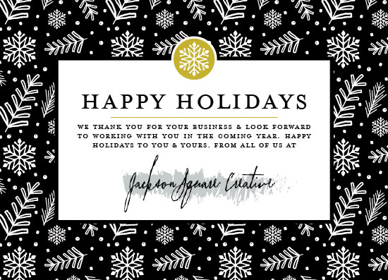 business holiday cards - HandDrawn Holiday by Beth Schneider