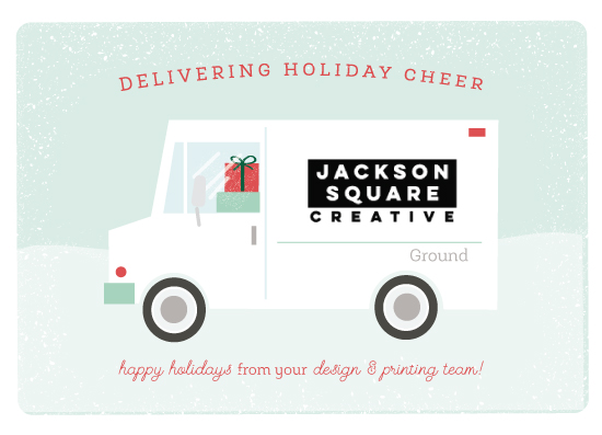 business holiday cards - Delivering Holiday Cheer by Itsy Belle Studio