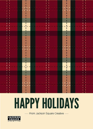 business holiday cards - Festive Tartan by Rebecca Casselman