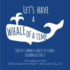 A whale of a time pool party invitation