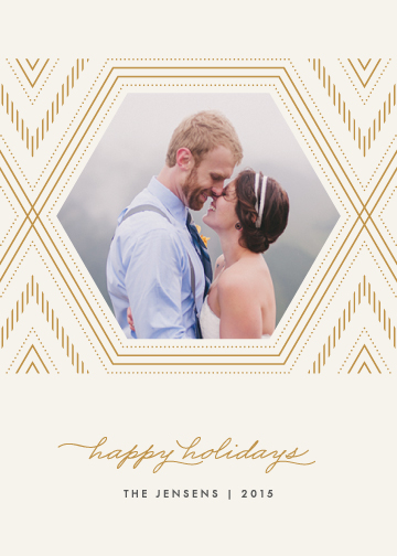 holiday photo cards - Hexagonal Frame by Amber Barkley