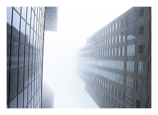 art prints - Chicago in fog by Super Unison