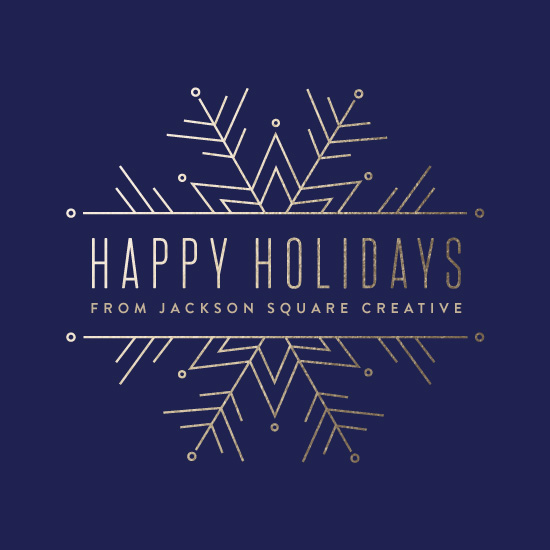 business holiday cards - Chic Snowflake by Pistols