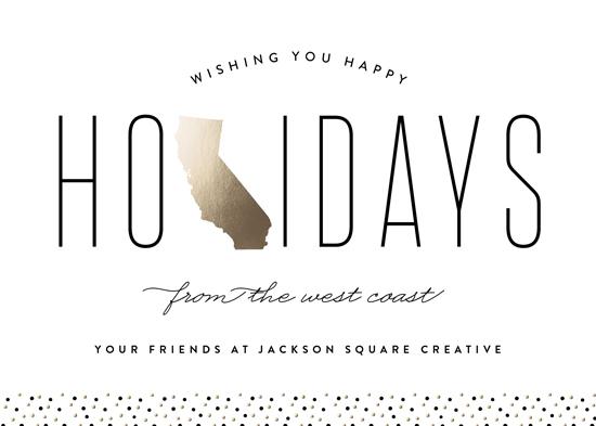 business holiday cards - West Coast Greetings by Erica Krystek
