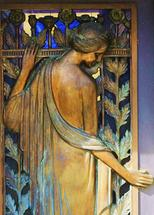 At the Door by Mary Scharf Anderson
