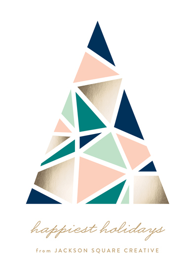business holiday cards - Abstract Tree by Erica Krystek