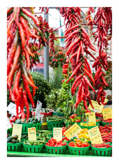 art prints - Hot Peppers by Isabel Knez