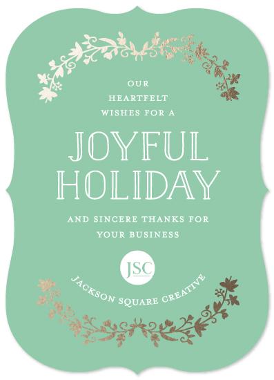 business holiday cards - Joyful Garland by Katherine Moynagh