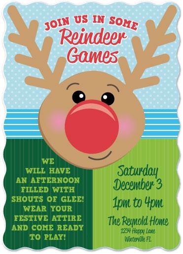 digital invitations - Reindeer Games by frances barra