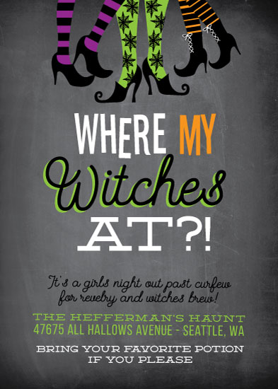 digital invitations - Bewitching Soiree by Itsy Belle Studio